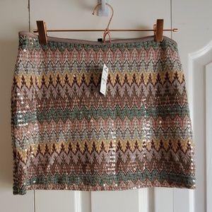 NWT Express Sequin Skirt Medium